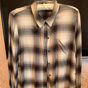 Lucky Brand Women's Long Sleeve Plaid